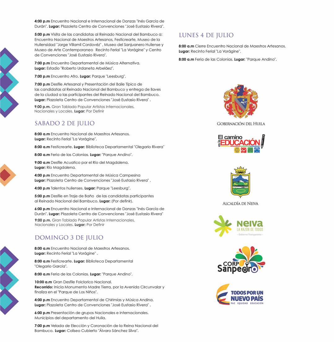 Asi sera la programacion del Festival de San Pedro 4