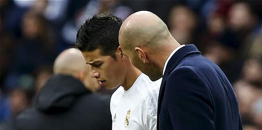Situación de James en el Real Madrid se complica