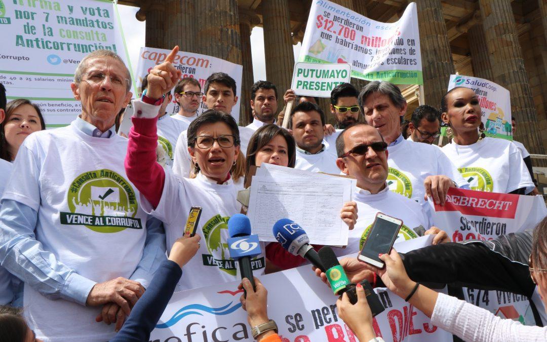 Consulta Anticorrupción, la iniciativa ciudadana más respaldada: 4.312.653 firmas