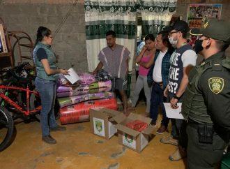 Damnificados por deslizamiento en Pitalito reciben ayuda Humanitaria