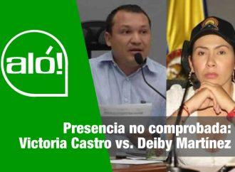 Aló: Presencia no comprobada: Victoria Castro vs. Deiby Martínez