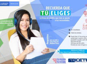 Abiertas líneas de crédito 'Tú Eliges Mediano Plazo' para estudiantes de pregrado