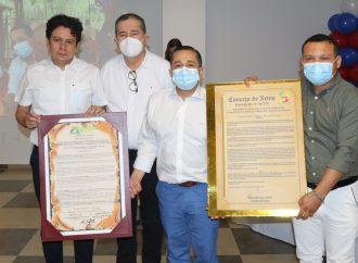 Representante Triana, Condecorado Por La Asamblea Departamental Y El Concejo Municipal De Neiva