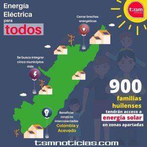 900 familias huilenses tendrán acceso a energía solar en zonas apartadas