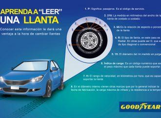 Aprenda a leer las llantas de su vehículo y evite inconvenientes